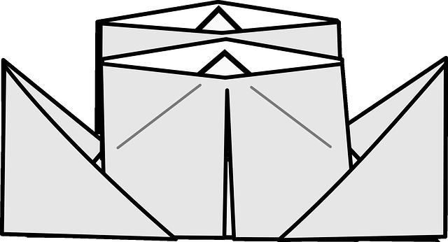 Origami Boot Dampfer