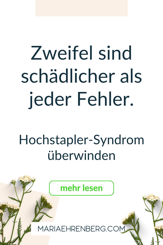 Hochstapler-Syndrom Folgen